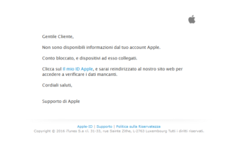 email apple contraffatte